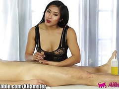 Milkingtable asian footjob and cock milk tubes at asian.sgirls.net