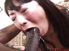 Asian wife hammered by big black cock and swallows tubes at thai.sgirls.net