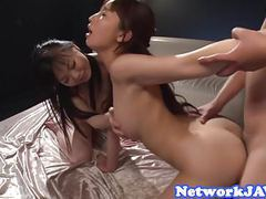 Gorgeous asian beauties screwed in threeway tubes at find-best-asian.com