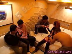 Cosplay fsn caster handling gangbang clip