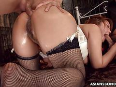 Giving her ass up in a nasty bdsm session tubes