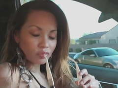 Francine dee strips in car! big boobs! movies at find-best-ass.com