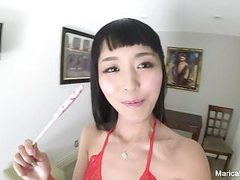 Self shot solo session with japanese starlet marica hase movies