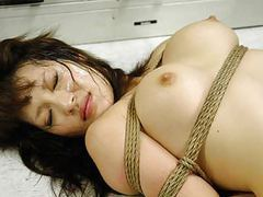 Bound asian hottie gets fucked with behind the bars tubes at chinese.sgirls.net