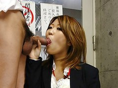 Asian slut gobbles up the dick that made her wet down stairs tubes at find-best-asian.com