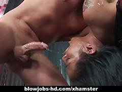 Extreme caged asian blowjob from lyla lei movies