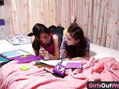 Girls out west - lesbian teens finger and lick hairy cunts movies