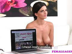 Femaleagent busty make up artist gets agent wet and horny movies at find-best-tits.com
