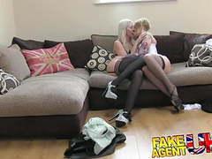 Fakeagentuk 2 hot blonde friends lez up then fuck agent movies at find-best-ass.com