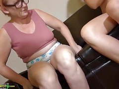 Oldnanny granny mature masturbate with orange dildo videos