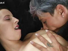 Mature mother fucks her young lesbian lover movies at kilovideos.com