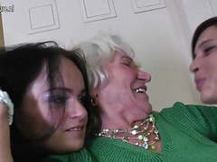Granny norma fucks two young lesbian girls movies