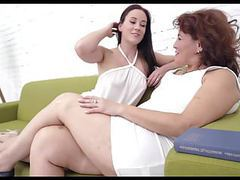 Young beautiful girl seduces granny tubes