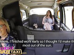 Female fake taxi horny tarts use cucumber to stretch pussy movies at sgirls.net