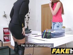 Female agent hot redhead makes blonde sexy cum with hr mouth movies