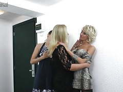Amateur lesbian mothers fuck each other in 3some movies at relaxxx.net