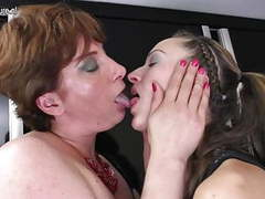 Hot young girl fucks her mature lesbian lover movies at freekiloporn.com