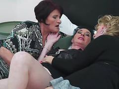 Three grannies lick and fuck each other in lesbo threesome movies at find-best-mature.com
