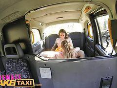 Female fake taxi multiple lesbian orgasms for busty milf videos