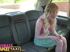 Female fake taxi lesbian encounter for posh student movies