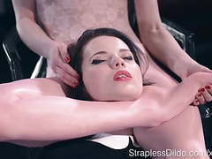 Sex starved doll is strapon fucked hard by maria pie movies