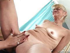Young pussy enjoys playing with toys in grandma s pussy movies