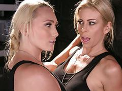 Blonde lesbian soldiers caught on - aj applegate,alexis fawx movies at lingerie-mania.com