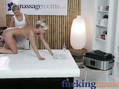 Massage rooms young blonde lesbians finger fuck each other movies