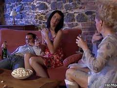 Milf lesbian seduces her son's gf movies at lingerie-mania.com
