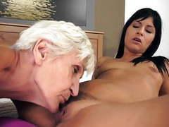 Lesbian grandmas lick young russian pussy tubes