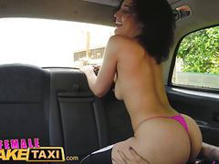 Female fake taxi horny driver cums in gorgeous fitness babes movies