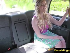Inked british cabbie pussylicked by posh girl clip