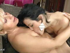 Young lesbian fucks two older moms at once movies