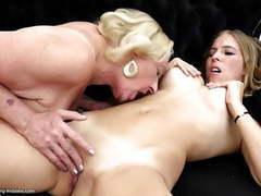 Granny licks and fucks young lesbian girl videos