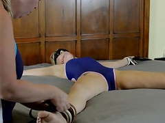 Lesbian spread eagle swimsuit bondage miss whitney morgan movies at find-best-lingerie.com