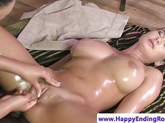 Bigtitted lesbian fingered by dyke masseuse movies at dailyadult.info