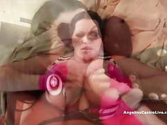 Angelina castro gets strap on workout from muscular babe!! videos