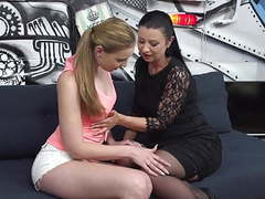 Mature mother seduce young beautiful daughter movies at lingerie-mania.com
