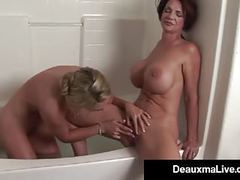 Texas mommy deauxma licks some pussy with lesbo tanya tate! tubes