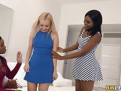 Lesbian action with aaliyah love, mya mays and yara skye clip