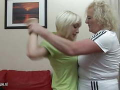 Hard lesbian lesson from her old coach movies