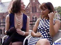 Nylon fetish lesbian fun with british mature movies at kilovideos.com