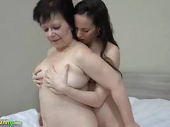 Oldnanny hot girl with strapon fucks big fat granny tubes