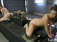 Lesbians pussy fuck double ended dildo machine movies at find-best-pussy.com