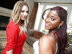 Interracial lesbian sex with kenna james & jasmine webb movies at freekilosex.com