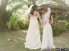 Dolly and kymberlee have a fuckfest after getting married videos