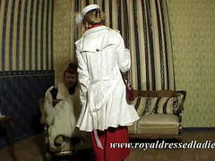Stylish classic lesbian ladies long fox fur satin dress movies at kilopills.com
