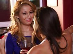 Abigail mac teaching lilly evans for some pussy licking movies at freelingerie.us