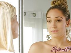 Adorable babe charlotte stokely seduced by horny lily labeau movies at lingerie-mania.com