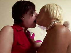 Glamourous lesbians love oral on their couch videos
